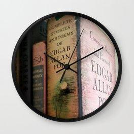 Pink Poe Wall Clock