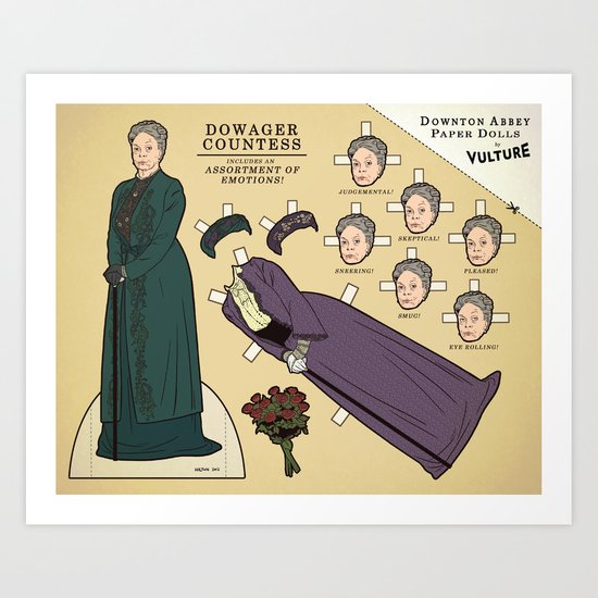 """Dowager Countess, """"Downton Abbey"""" (Vulture Exclusive) Art Print"""