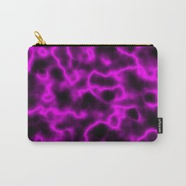 Hot Pink Plasma on Black Carry-All Pouch