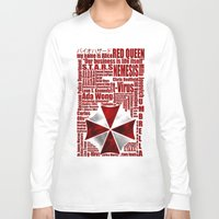 resident evil Long Sleeve T-shirts featuring Resident Evil Story... by Rosso