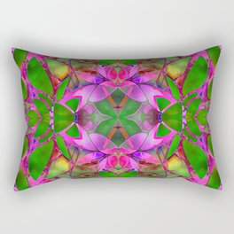 Floral Fractal Art G374 Rectangular Pillow