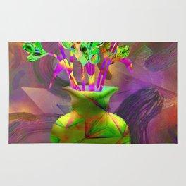 Remixed abstractions into digital still life Rug