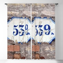 Number 539 on brick wall Blackout Curtain