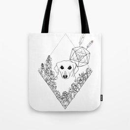 Geometric Dachshund Garden Tote Bag