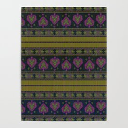Persian Tapestry Blue and Gold  Poster