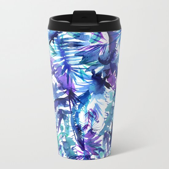 Vibe of the JUNGLE  {B-Blue} Metal Travel Mug