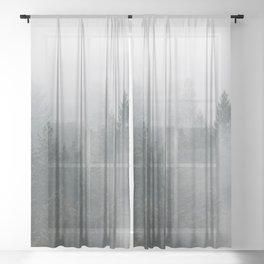 Long Days Ahead - Nature Photography Sheer Curtain