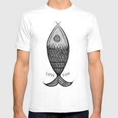 LoveFish Mens Fitted Tee White MEDIUM