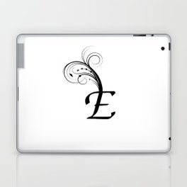 black and white E letter with design Laptop & iPad Skin
