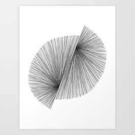 Black and White Mid Century Modern Geometric Abstract Art Print