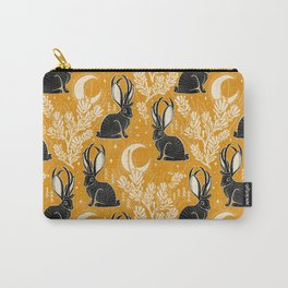 Jackalope - marigold and black  Carry-All Pouch