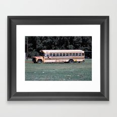 Bus Times Framed Art Print
