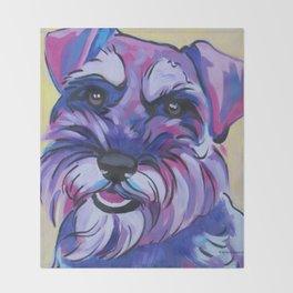 Schnauzer Pop Art Pet Portrait Throw Blanket