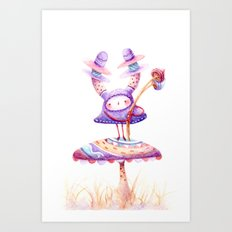 In The Land Of Magic Mushrooms Art Print