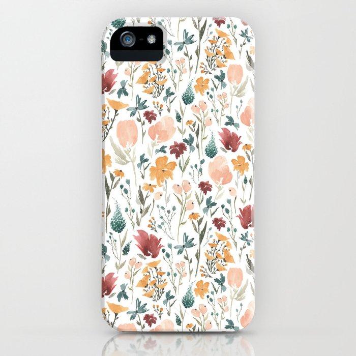 deep florals iphone case