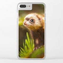 cute ferret Clear iPhone Case