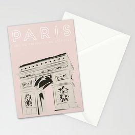 Paris Arc de Triomphe de l'Étoile Travel Poster Stationery Cards