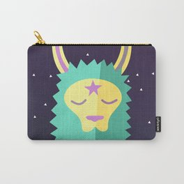 Yacana: The Space Llama Head (Cyan) Carry-All Pouch
