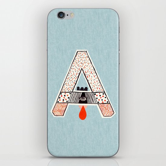 "a to z - ""A"" iPhone & iPod Skin"
