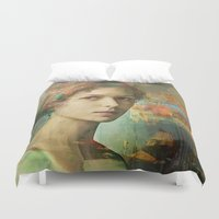 andreas preis Duvet Covers featuring While waiting for Casanova by Ganech joe