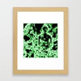 Neon abstract Framed Art Print
