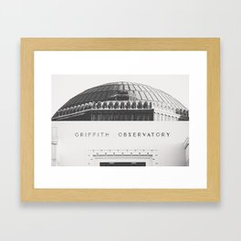 Griffith Observatory - Black and White version Framed Art Print