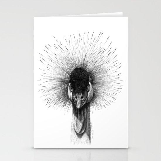 Black Crowned Crane G2012-065 Stationery Cards