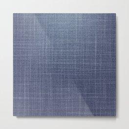 Jeans pattern Metal Print