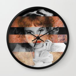 Renoir's Jeanne Samary in a low necked dress & Judy Garland Wall Clock
