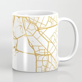 MONTREAL CANADA CITY STREET MAP ART Coffee Mug