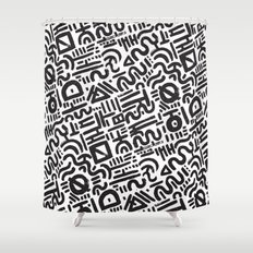 Abstract 0018 Shower Curtain