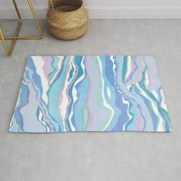 cotton candy pastel lines Rug