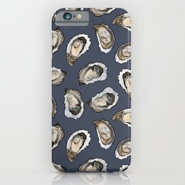 Oysters by the Dozen in Blue iPhone Case