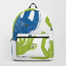 Gang of Sloths Hanging Out Backpack