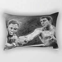 Thrilla in Manilla Pencil Drawing Rectangular Pillow