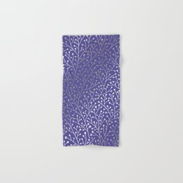 Periwinkle Berry Branches Hand & Bath Towel