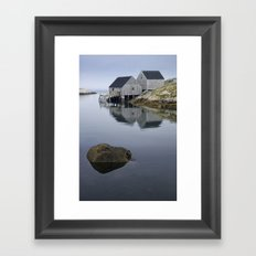 Early Morning at Peggy's Cove Harbor Framed Art Print