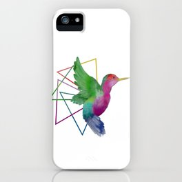Hummingbird - Geometric I iPhone Case