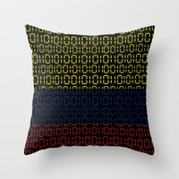 colombia Throw Pillows featuring digital Flag (Colombia) by seb mcnulty