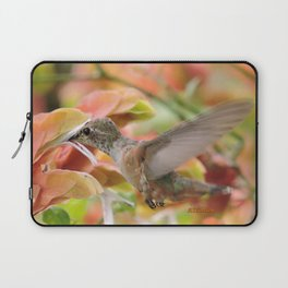 Little Ms. Hummingbird in for More Licks Laptop Sleeve