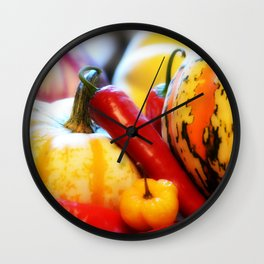 Fall Harvest Wall Clock