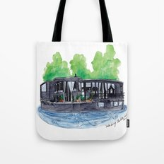 Water Living in Amsterdam by Charlotte Vallance Tote Bag