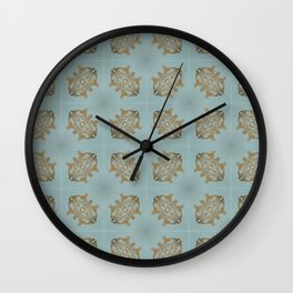 Soft Teal Blue & Gold No. 6 Wall Clock