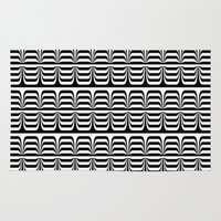 techno Area & Throw Rugs featuring Techno Zebra by Lyle Hatch