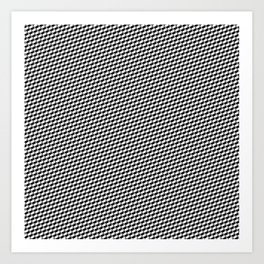 Baby Sharkstooth Sharks Pattern Repeat in Black and White Art Print