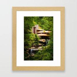 Fallingwater Summer - Horizontal Framed Art Print