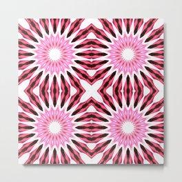 Pink Pinwheel Flowers Metal Print