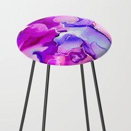 Purple Posies Counter Stool
