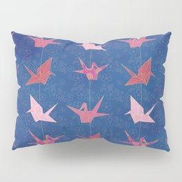 Chains of hanging paper cranes Pillow Sham