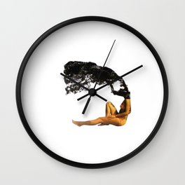 In the shade of a tree Wall Clock